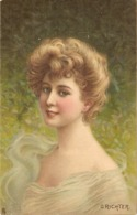 """""""O. Richter. ..Pretty Lady. Constance"""" Tuck Connoisseur Famous Heads Ser. PC # 2764 - Tuck, Raphael"""