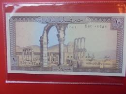 LIBAN 10 LIVRES 1964-86 PEU CIRCULER/NEUF (B.9) - Libanon