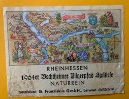 12260 -  Rheinhessen 1964 Allemagne état Moyen - Etiquettes