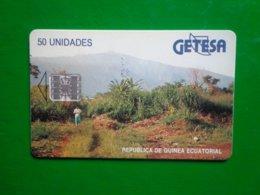Télécarte Guinée-Equatoriale, 50 Unidades Utilisé Deux Numéros Rouge Au Verso - Aequatorial-Guinea
