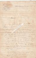 Villers - Cotterets---aisne----02-famille W(d)uez--garde Foret De La Couronne--lettre Notaire M Senart----18 Mars 1846 - Vieux Papiers