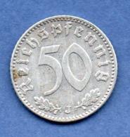 Allemagne  -  50 Reichspfennig 1943 J -  état TB+ - [ 4] 1933-1945 : Third Reich