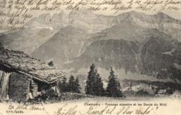 Suisse - Valais - Champéry - Paysage Alpestre Et Les Dents Du Midi - D 0774 - VS Valais