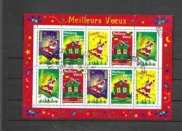 21  OBL  ** Y & T   Père Noël  « Meilleurs Vœux 1999 »   26/34 - Sheetlets
