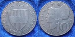 AUSTRIA - Silver 10 Schillings 1958 KM# 2882 - Edelweiss Coins - Austria