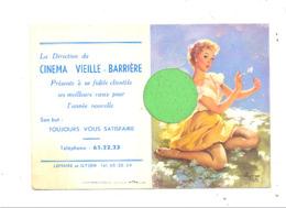 """Calendrier De Poche De 1958 - Pin-up Et Publcité  Du Cinéma """" Vieille - Barrière """" à Chênée  (b269) - Calendriers"""