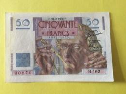 Le Verrier Type De 1950 Parfait état Comme Neuf Superbe Billet Sans Trace D Aiguille - 1871-1952 Anciens Francs Circulés Au XXème