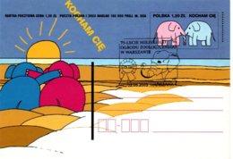 Polska Zoo Varsovie 2003 - Entier Elephant Elefant - Ganzsache Stationery - Elephants