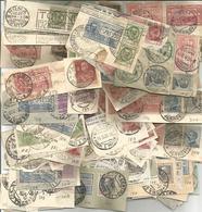 Italia Regno, Oltre 120 Frammenti, In Maggioranza Affrancature Multiple Con Espressi, Numerose Targhette Pubblicitarie. - Italien