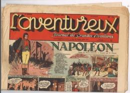 L'AVENTUREUX. JOURNAL DE GRANDES AVENTURES.  NAPOLEON. 10 AOUT 1941. N° 32. - Non Classés