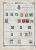 Espagne Collection Ancienne Sur Charnière - Timbres Oblitérés/neufs * B/TB - 15 Scans - Collezioni