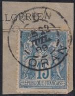 Algérie - Oblitération De Oran Sur France N° 90 (YT). - Usados
