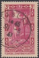 Algérie - Oblitération De Tablat / Alger Sur N° 122 (YT) N° 124 (AM). - Algérie (1924-1962)