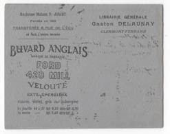 63 - CLERMONT FERRAND - BUVARD ANGLAIS  - FORD - Gaston DELAUNAY - - Buvards, Protège-cahiers Illustrés