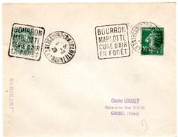 SEINE Et MARNE - Dépt N° 77 = BOURRON MARLOTTE 1928 (année En 2 Chiffres ) = FLAMME DAGUIN ' CURE D' AIR En FORET ' - Marcofilia (sobres)