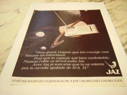 ANCIENNE PUBLICITELE REVAIL RADIO  JAZ 1981 - Réveils
