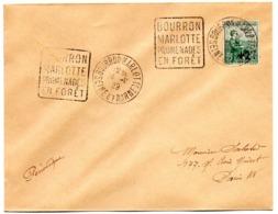 SEINE Et MARNE - Dépt N° 77 = BOURRON MARLOTTE 1929 (année En 2 Chiffres ) = FLAMME DAGUIN ' PROMENADES En FORET ' - Marcofilia (sobres)