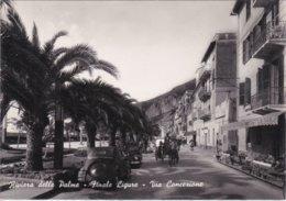 FINALE LIGURE - SAVONA - RIVIERA DELLE PALME - VIA CONCEZIONE - TENDA PUBBLICITARIA BIRRA WUHRER - AUTO FIAT TOPOLINO - Belluno