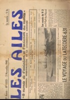 3 MAGAZINES AVIATION. LES AILES. 1944-1945. Avion. - Avion
