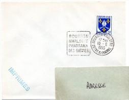 SEINE Et MARNE - Dépt N° 77 = BOURRON MARLOTTE 1955 = FLAMME Entière = DAGUIN ' PANORAMA Des GATINES ' - Marcofilia (sobres)