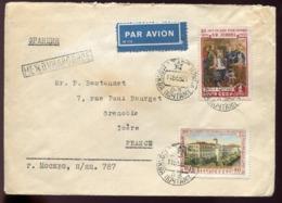 RUSSIE - N° 1708 + 1759 / LETTRE DE MOSCOU LE 11/5/1955 POUR GRENOBLE - TB - Covers & Documents