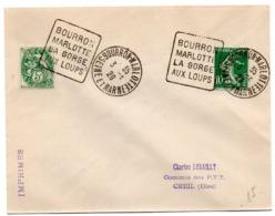 SEINE Et MARNE - Dépt N° 77 = BOURRON MARLOTTE 1929 (année En 2 Chiffres ) = FLAMME DAGUIN 'LA GORGE / AUX LOUPS ' - Marcofilia (sobres)