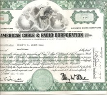 American Cable & Radio Corporation - Actions & Titres