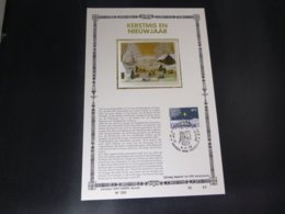 "BELG.1982 2067 FDC Filatelic Card NL ,zijde & Gouden Letters ,oplage 200 Ex !  : "" Kertmis "" - 1981-90"