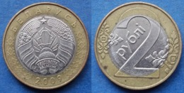 BELARUS - 2 Roubles 2009 KM#568 Independent Republic Since 1991- Edelweiss Coins - Belarús