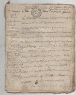 Eure Acte De 28 Pages La Chapelle Gauthier , La Vespierre , Bernay ,  St Jean De Thenney An 6 - Manuscripts