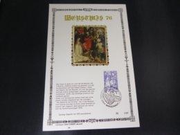 """BELG.1976 1837 FDC Filatelic Card NL ,zijde & Gouden Letters ,oplage 200 Ex !  : """" Kertmis """" - FDC"""