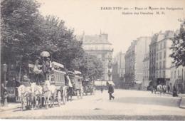 BAD- PARIS PLACE ET SQUARE DES BATIGNOLLES STATION DES OMNIBUS - Distretto: 17
