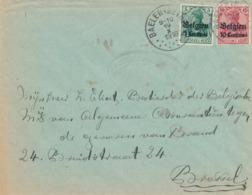 518/30 -- Lettre TP Germania BALEN (Nethe) 1916 Vers BXL -  Censure Indistincte - WW I