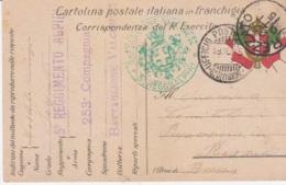 1915 BATTAGLIONE VALCHIESE/5� REGGIMENTO ALPINI Tondo Verde Su Cartolina Franchigia UFFICIO POSTA MILITARE/6 DIVISIONE ( - Marcophilie