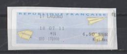 2011  Lettre Mini Max  Lagord - 2000 «Avions En Papier»