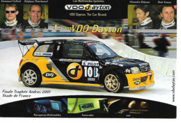 NISSAN SPORT - TROPHEE ANDROS 2001 Au Stade De France - (Conducteurs En Médaillon - Voir Description) - Motorsport
