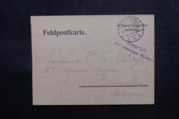 BELGIQUE / ALLEMAGNE - Carte De Prisonnier Belge à Güstrow Pour Bruxelles En 1915 - L 47480 - WW I