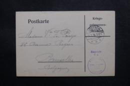 BELGIQUE / ALLEMAGNE - Carte De Prisonnier Belge à Güstrow Pour Bruxelles En 1916 - L 47481 - WW I
