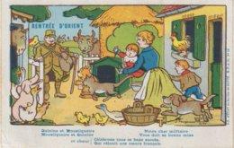 """FRANCE : CP . RENTREE D'ORIENT . N° 19 . """" QUININE ET MOUSTIQUAIRE """" . ( PLI D'ANGLE ) . - WW I"""