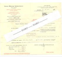 Facture De L' Agence Maritime Internationale Pour L'envoi D'une Malle Au CONGO Belge En 1946, Bateau, Vapeur,... (b269) - 1900 – 1949