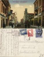 Greece, PATRAS PATRA Πάτρα, Rue Maisonos (1925) Mixed Franking Austria - Griekenland