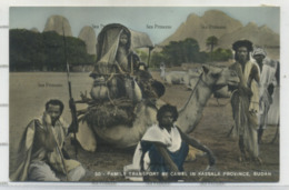 Sudan Postcard Family Transport By Camel Kassala Province By Tropical Photo Stores - Sudan