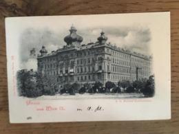 CPA écrite En 1899?, Gruss Aus Wien IX (bonjour De Vienne), K.k Marine Ministerium,és Joss Popper, Timbre - Altri