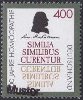 Specimen, Germany Sc1946 Homeopathic Medicine, Samuel Hahnemann (1755-1843), Médecine - Medizin