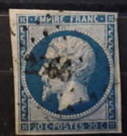 Empire No 14 B Obl Pc  2566  De LE POUZIN Ardèche,  Indice 7 , TB - 1853-1860 Napoléon III