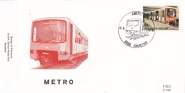 België - FDC 490 - 18 September 1976 - Inhuldiging Van De Eerste Metrolijn Te Brussel - OBP 1826 - FDC