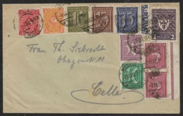 1922 Dt.Reich - NIENBURG N. CELLE Mi.158(2),159,161,162,185,200,205,225 - 158 U. 185 M. Bogenrand - Germany