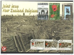 Herdenkingskaart - Carte-souvenir Nieuw Zeeland  3842 HK (cob ) Cote  : 10.00 Euro - Souvenir Cards