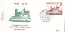 België - FDC 533 - 1 April 1978 - 850 Jaar Norbertijnergemeenschap - Norbertijnerabdij Grimbergen - OBP 1888 - FDC