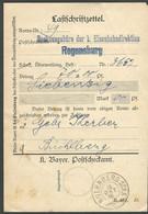 (7732) Bayern 1918, Lastschriftzettel Der Eisenbahndir. Regensburg   PLZ 90402  - Bayern